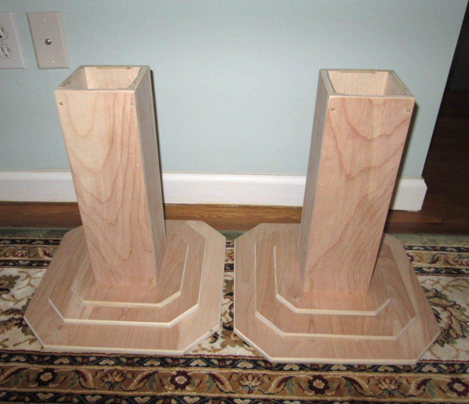 Furniture risers 14 inch all wood construction unfinished for Furniture risers