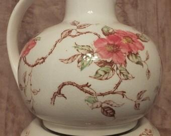 Vintage Nasco Springtime Teapot With Warming Stand