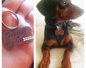 Dog Bone ID Tag, Copper, Personalize with Name and Contact Number