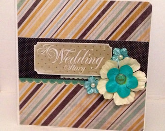 Wedding scrapbook premade album 8x8