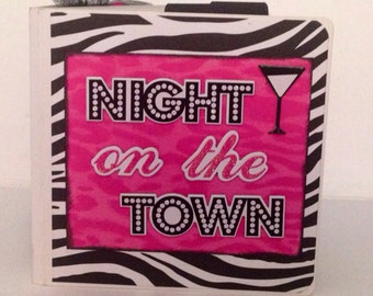 Girls night out scrapbook Premade Pages  mini album bachelorette party-5x5