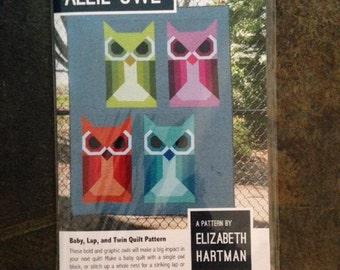 Elizabeth Hartman Allie Owl Quilt Sewing Pattern 3 Sizes