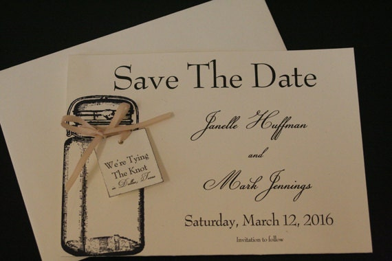 tying the knot save the date wedding by faithfulcrafter on