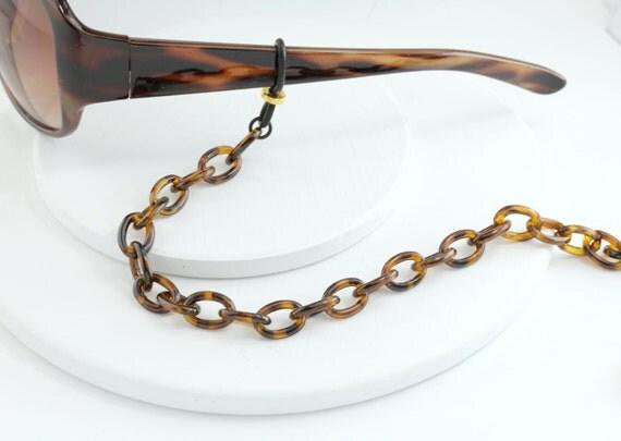 tortoise shell eyeglass chain eyeglass necklace lanyard