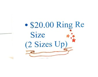 Michaelangelas, ring re size, jewelry re size up or down, ( 2 sizes )