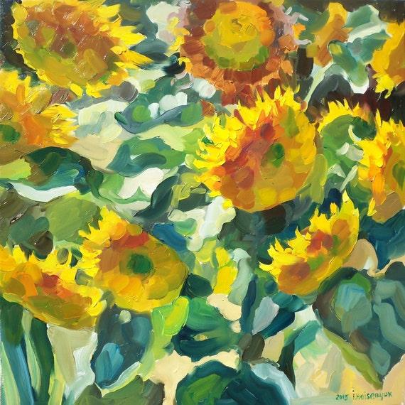 original oil painting of flowers flower by missblackeyes