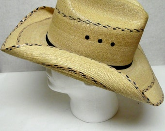 Straw Cowboy Hat Wide Brimmed Hat Sun Western Natural