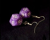 Shimmering Purple d12 Earrings