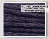WISCONSIN WOODS Classic Colorworks 6- strand embroidery floss : hand over dyed overdyed thread cross stitch