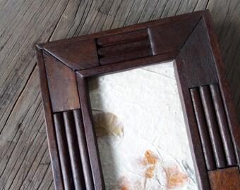 """Unique Design Rustic Wooden Photo Frame size 4x6"""""""