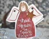 Speech Therapist Gift Salt Dough Ornament