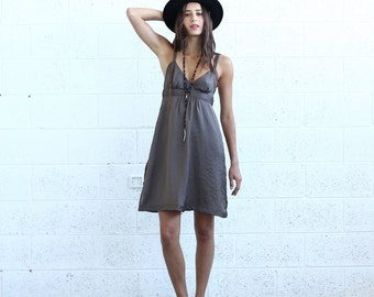 Sarafan Dress, Brown.