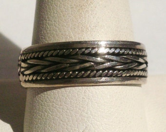 Vintage Sterling Silver Men's Band Ring-Size 11
