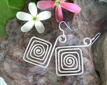 Spiral Silver Earrings - The Way of Life (6)