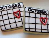 Save the date Cookies 3 dozen