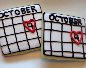 Save the date Cookies 3 dozen