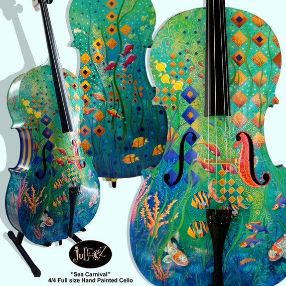 Hand Painted Cello Mus...
