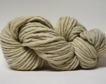 Single Ply Yarn Merino Slub Hand Dyed 44sp15012 Ecru