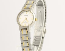 Pulsar Dress Women's Watch - Stainless Steel Gold Tone Box & Papers L1917