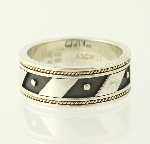 Men's Wedding Band - Sterling Silver