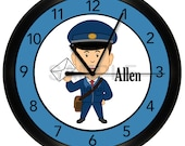 Post Office Worker Wall Clock Mail Carrier