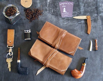 Leather Pipe & Tobacco Case Pouch * Ready To Ship! * The Original Standard