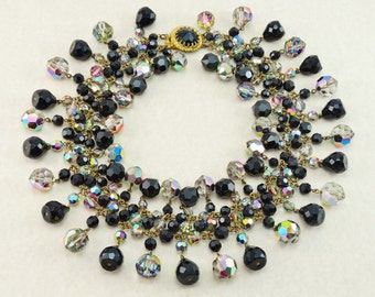 RARE Vintage 1960's Francoise Montague France, INCREDIBLE French Crystal Collarette Necklace