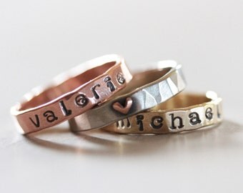 Personalized / Name Ring / Graduate Ring / Gift for Her / Custom Name / Stacking Rings / Name Ring / Personalized Stacking Ring / For Her