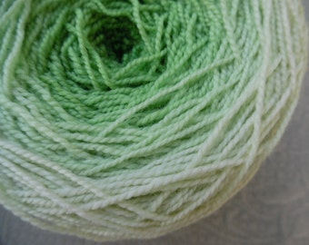 Metamorphosis gradient Yarn, superwash merino nylon sock yarn, spring green, double skein