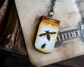Wood Bottled Insect Necklace