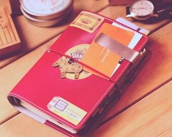 A6 forest  traveler Journal /Refillable notebook/ Binder Planner