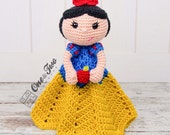 Snow White Lovey / Security Blanket - PDF Crochet Pattern - Instant Download - Blankie Baby Blanket