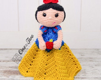 Snow White Lovey / Security Blanket - PDF Crochet Pattern - Instant Download - Blankie Baby Blanket
