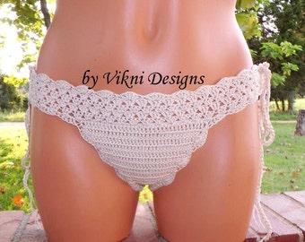 Crochet Brazil Cheeky Bikini Bottom by Vikni Designs