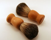 Badger Shaving Brush with Wood Handle #EtsyGifts # etsy success