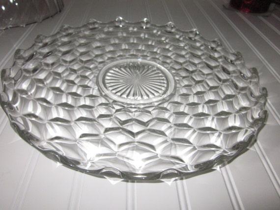 Fostoria American Pattern Versatile Footed Crystal Serving