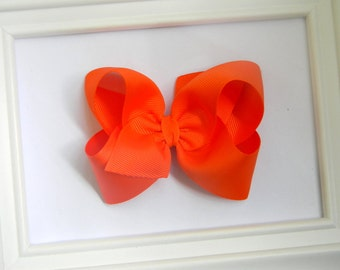 Orange Boutique Hair Bow - Orange Hair Bow - Large Boutique Bow - Orange Boutique Bow