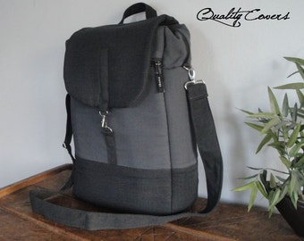 Customizable Convertible Backpack/Rucksack - Laptop bag - Fully PADDED - laptop Compartment - interior and exterior pockets