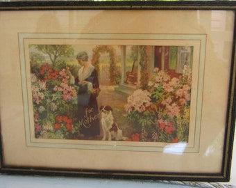 """Vintage Mother's Day Print titled """"For Mother""""  Just in time for her Day!"""