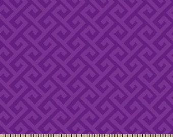 06302 -  Springs Creative Products Quilting Basics Greek Key in purple - 1 yard