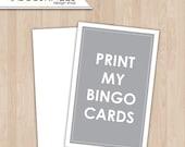 Baby shower games Print My Bingo Cards