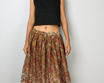 Maxi Skirt - Paisley Skirt - Boho Skirt : Feel Good Collection No.1