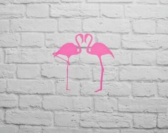 Vinyl Wall Decal Flamingos