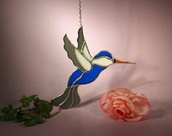 NFL Dallas Cowboys Stained Glass Suncatcher Hummingbird (589)