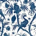 Bombay - Cream Blue Crane from Red Rooster Fabrics