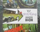 Original 1967 Harley Davidson Brochure Pamphlet Lot of 3