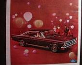 Vintage Magazine Original Promo Ad 1960's Ford Fairlane 500 - Great for Framing