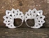 Satya Large Silver Earrings