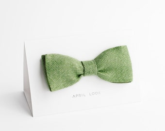 Apple green bow tie, lime green bow tie - double sided