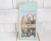 Vintage Yosemite National Park map tourist souvenir 1980s